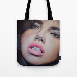 Adriana Lima Oil on Canvas Portrait Tote Bag