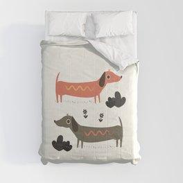Wiener Dogs Comforters
