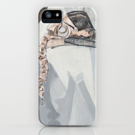 Hornbill Skeleton Museum Display iPhone Case