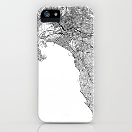 Melbourne White Map iPhone Case