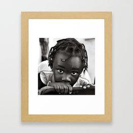 LOOKING INTO MY EYES Framed Art Print