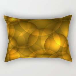 Glowing bronze soap circles and volume golden bubbles of air and water. Rectangular Pillow