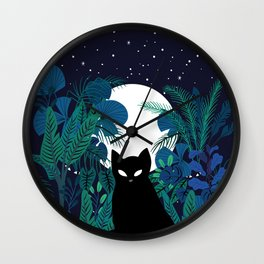 mystical cat Wall Clock