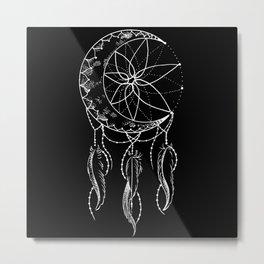 Dream Catcher with Crescent Moon Metal Print