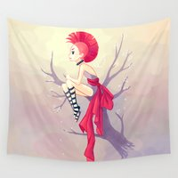punk Wall Tapestries featuring Punk Girl by Freeminds