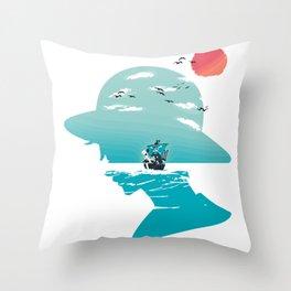 The King of Pirates Throw Pillow
