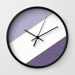 Arabic letters  purple Wall Clock