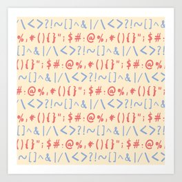 Type Marks and Signs Pattern Art Print