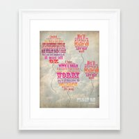 modest mouse Framed Art Prints featuring Modest Mouse by Jessica Krzywicki
