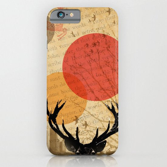 deer in the city iPhone & iPod Case