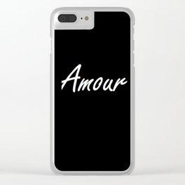 Black Background | Fond Noir Amour Clear iPhone Case