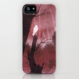 White crow in automn iPhone Case