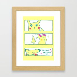 Teenage Poke Romance Framed Art Print