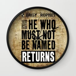 Daily Prophet Hot News Wall Clock