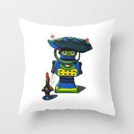 Robot-Bob Throw Pillow