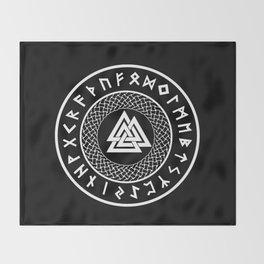 Valknut - Wotans Knot - Odin Rune Throw Blanket