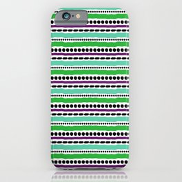 Lines and Dots 5 iPhone Case