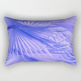 Lilac Purple Tropical Palm Leaves With Blue Accents Rectangular Pillow
