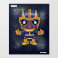 thanos Canvas Prints featuring Thanos Pop! by SpaceWaffle