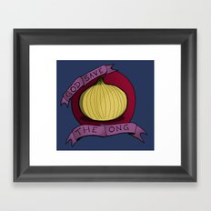 God Save The Ong Framed Art Print