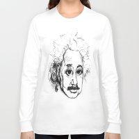 chibi Long Sleeve T-shirts featuring Chibi Einstein by Hazel Bellhop
