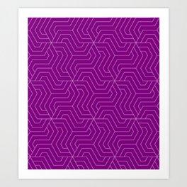 Patriarch - violet - Modern Vector Seamless Pattern Art Print