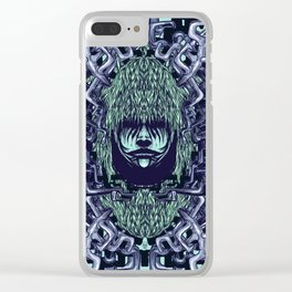 Boy with Labirinth Horns Clear iPhone Case
