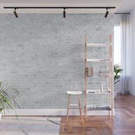 White Washed Brick Wall Stone Cladding Wall Mural