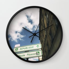 Picasso Museum This Way, Paris Wall Clock