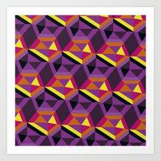 Chasing purple Art Print