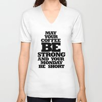 strong V-neck T-shirts featuring STRONG by ALLTYPE