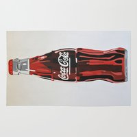 coca cola Area & Throw Rugs featuring Coca-Cola by Marta Barguno Krieg