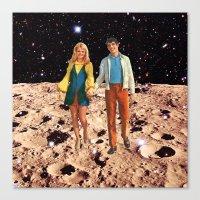 walk the moon Canvas Prints featuring Moon walk by Steven Quinn
