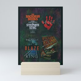 Richard Bachman - Stephen King books Mini Art Print