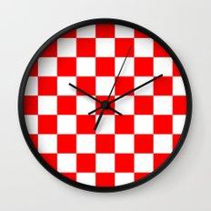 Checker (Red/White) Wall Clock