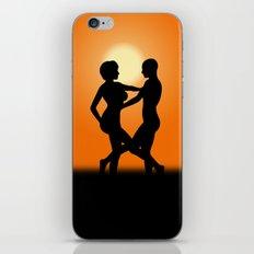 Sunset Dancing Lovers iPhone & iPod Skin