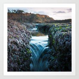 Tide Pool Waterfall Art Print