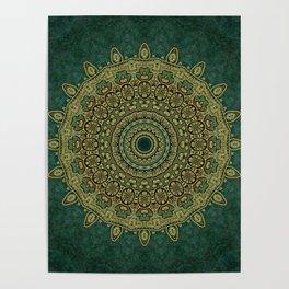 Golden Circle Mandala Poster