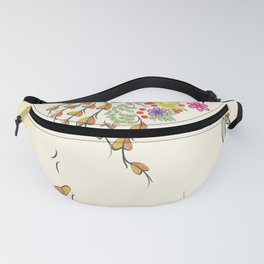 Vibrant Floral to Floral Fanny Pack