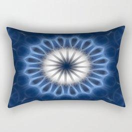Blue Kaleidoscope 6 Rectangular Pillow