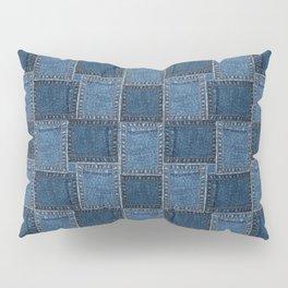 Denim Patch Pillow Sham