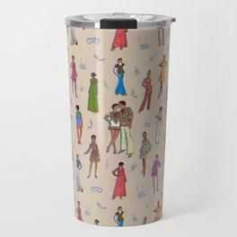 Retro Fashion Collage/ Illustration Travel Mug