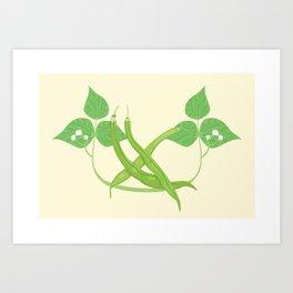 Vegetable Tags: Green Beans Art Print