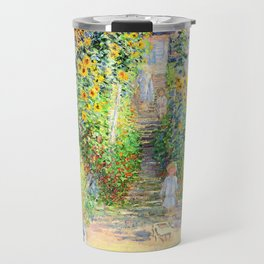 Monets Garden at Vetheuil Travel Mug