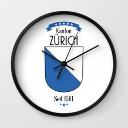 Canton of Zurich Wall Clock