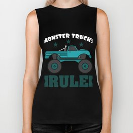 """""""Monster Trucks Rule"""" luxurious and glorious inspired tee design for rider like you! Biker Tank"""
