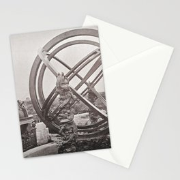 A Zodial Sphere and Celectial Globe, Peking Observatory Stationery Cards