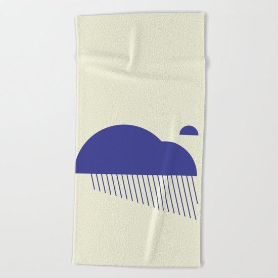 Minimal Clouds Rain Beach Towel