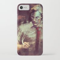 true detective iPhone & iPod Cases featuring True Detective by nlmda