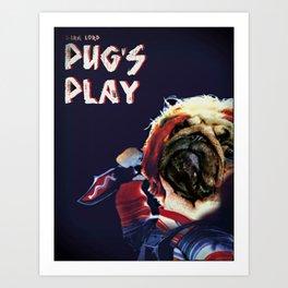Pug's Play Art Print